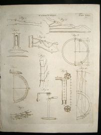 Science Prints, 1795: Water Works, set of 2 antique prints